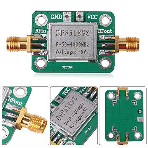 HiLetgo 50-4000MHz RF Low Noise Amplifier SPF5189 0.6dB Wide Band Amplifier Signal Receiver for FM HF VHF/UHF Ham Radio