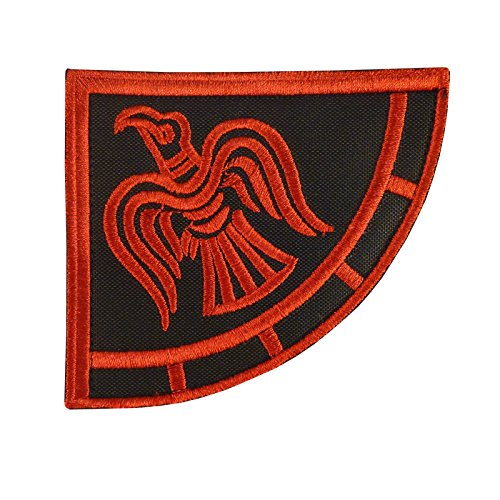 Rare Viking Raven Banner Odin God of War Morale Brodé Broderie Attache-boucle Écusson Patch