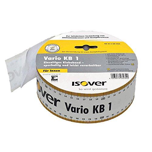 Isover Vario Klebeband KB1 mit integriertem Maßband 40 m NEU (0,53 €/m) 60 mm breit - 40 m Rolle