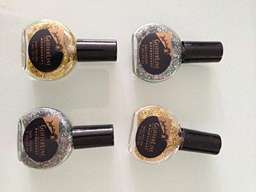 6 x Jofrika Glitter Glitzer Nagellack Geschäftsauflösung Silber Gold Bunt