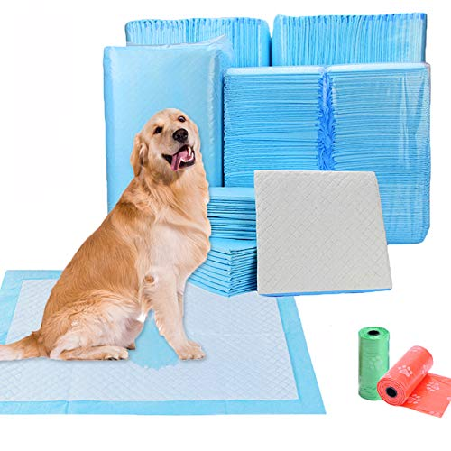 TVMALL Mascotas de adiestramiento y Cachorro Almohadilla Super Absorbente pañal de Inodoro desechable cojín de Perro Gato General Grandes toallitas de Entrenamiento de Gran tamaño(XL,20PCS)