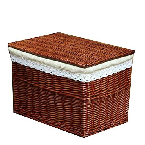 GYMEIJYG Maleta Vintage, con Cubierta Rota Alta Capacidad Rectángulo Se Utiliza para Utensilios De Cocina, Ropa Interior, Sauce De Almacenamiento De Ropa Interior, 3 Estilos, 4 Tamaños