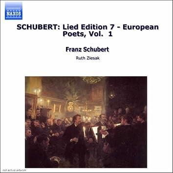 Schubert: Lied Edition  7 - European Poets, Vol.  1
