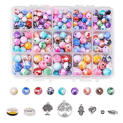 PandaHall Elite Beads - Kit de fabricación de joyas, 3 tamaños, 20...