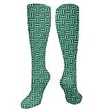 Calcetines divertidos, rectángulos tradicionales y cuadrados con diseño geométrico, ilusión óptica, calcetines divertidos para mujer, calcetines de algodón para mujer, calcetines funky