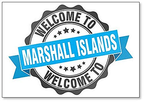 Welkom bij Marshall Islands Illustration Koelkast Magneet