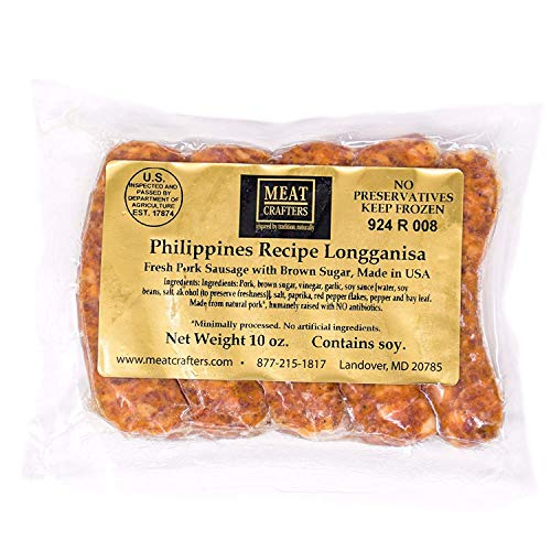 MeatCrafters Longganisa Pork Sausage, Minimally Processed, No Artificial Ingredients, 40oz (4-Pack, 20 Total Links)