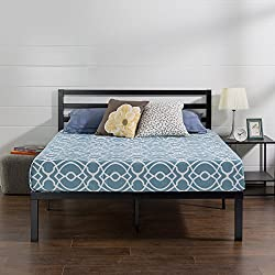 Metal Platform Bed With Headboard