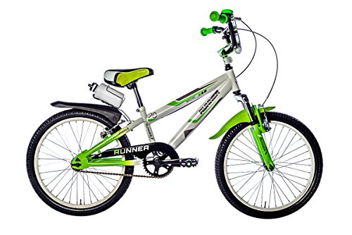 F.lli Schiano Runner, Bicicletta Bambino, Bianco/Verde, 12