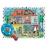 Ludattica 74822 Puzzle Infantil La MIA Casa con Lupa, Multicolor, 70x50 cm