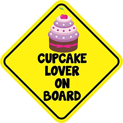 StickerTalk Cupcake Lover on Board Magnet, 5 inches by 5 inches