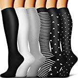 Copper Compression Socks Women & Men - Best for Running,Sports,Hiking,Flight Travel,Circulation