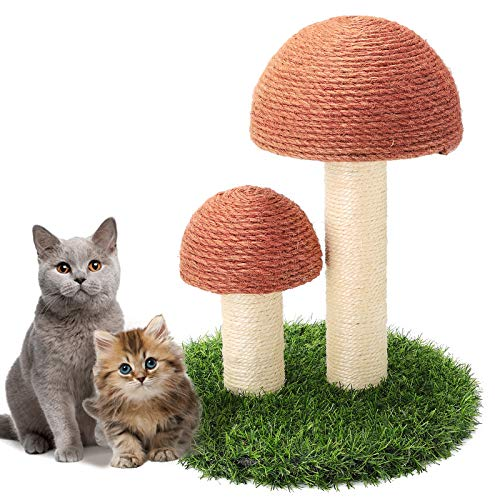 GiftParty Cat Scratching Post - 15x12 Inch Durable Sisal Scratcher Cat Furniture Toy for Kitty