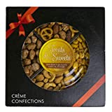 Gourmet Nut Tray Assorted Nuts Gift Basket With Bow - Includes Roasted Salted Cashews, Toffee Peanuts, Sweet and Savory Party Mix, Roasted Perfect ForMishloach Manot Basket