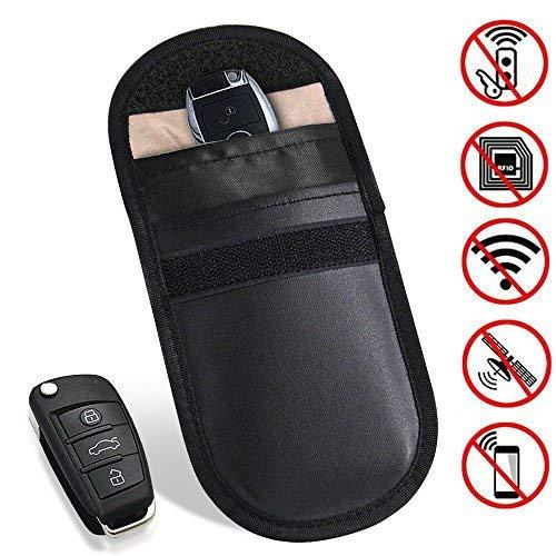 Segnale sistema di bloccaggio di sicurezza, 100% Defender auto portachiavi RFID amplificatore di segnale e segnale GPS Tracker bag, Smartkey KEYLESS antifurto bloccaggio segnale Jammer (01- PU)