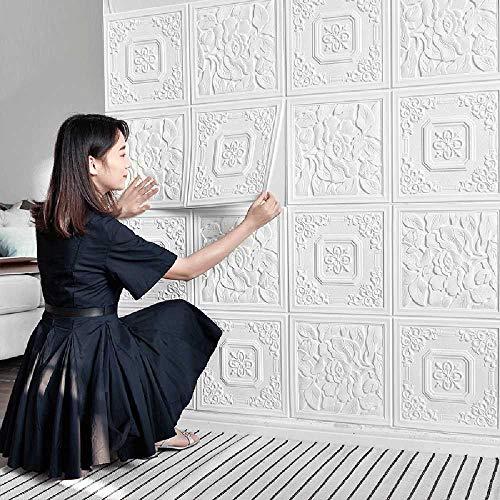 Onbekend No Brand nieuwe Chinese 3D stereo muursticker zelfklevend behang slaapkamer warme deken deken zelfklevende decoratieve schilderij muur doek behang Gouden Jixiang paviljoen