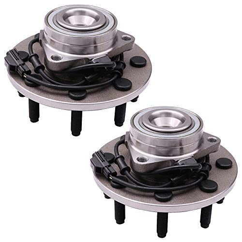 SCITOO Compatible with Wheel Bearing and Hub Assembly OE 515089 for 2003-2007 Dodge Truck RAM 2500/3500 Wheel Hub Bearing 8 Bolts W/ABS (2 Pads)