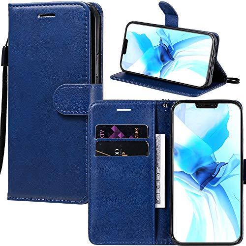 Capa carteira XYX para Galaxy S7 Edge, cor sólida PU carteira capa flip de couro para Samsung Galaxy S7 Edge (azul)