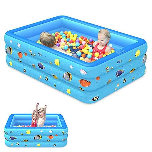 Lonme Le Piscine Kiddie Pool - Grosor de seguridad hinchable, interacción familiar para fiestas de agua, verano, niños, piscinas para jardín, patio, al aire libre, garantía de calidad