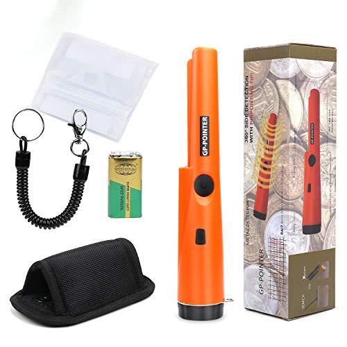 PiscatorZone Pin Pointer Waterproof Metal Detector Portable Handheld GP-Pointer Treasure Finder with Waterproof Case