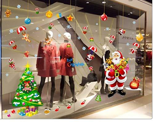 ZBYLL Venster Stickers Kerstmis Woonkamer Huis Decoratie Muurstickers Cartoon Kerstman En Poppen