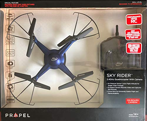 Propel RC Sky Rider(TM) 2.4GHz Quadcopter With Onboard Camera, Black, KH-2143