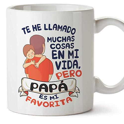 MUGFFINS Taza Papá (Te he llamado muchas cosas) - Regalos Originales y Divertidos para el Día del Padre