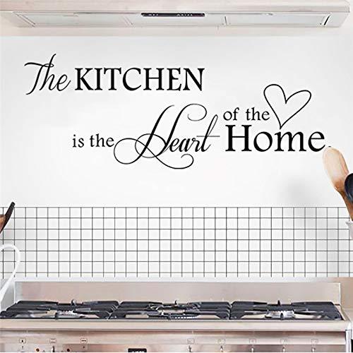 De keuken is het hart van de Home Letter muursticker Home Decor DIY wandtattoos Art Home Decor