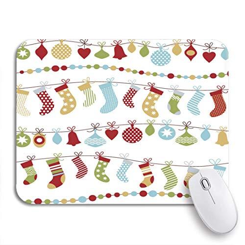 Gaming Mouse Pad Weihnachtsglocken Chill Claus Kalt Dezember Feuer Kamin Blumengeschenke Gold Grün Rutschfestes Gummi Backing Mousepad für Notebooks Computer Maus Matten