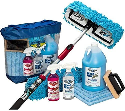 Waterless RV Aircraft Boat Wash Wax Mop Kit With Deluxe Pole, No Ladder Needed, Wash, Wax, Dry, Anywhere, Anytime, No...