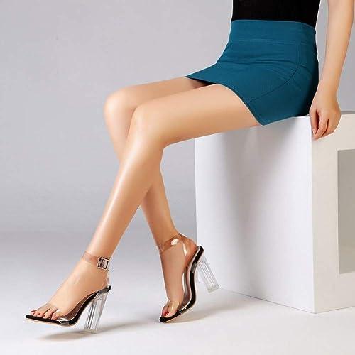 VIVIOO Femmes Chaussures Chaussures PVC Clair Transparent Strappy Femmes Sandales Sangle à La Cheville Talons Hauts Sandales Chaussures D'été Femme Chaussures De Les Les dames  détaillant de fitness