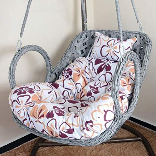 Columpio Colgante Silla Cojín Cojines para sillas columpios, espesar, extraíble, nido de huevos, cojín para silla, sillón reclinable individual, cojín para silla de mimbre, mimbre, cesta colgante, co