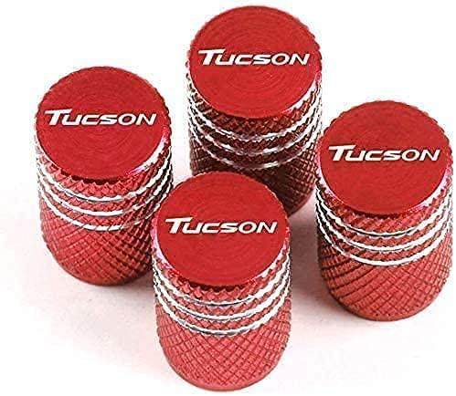 4 Piezas TapóN Polvo Metal Coche De La De NeumáTicos para Hyundai Tucson, De VáLvula Con Logo, DecoracióN Accesorio, Llanta Anti-Robo Cubierta
