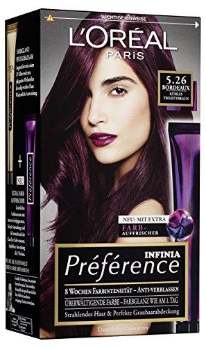 L'Oréal Paris Préférence 5.26 Bordeaux, 3er Pack (3 x 1 Stück)