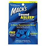 Mack's Sound Asleep Soft Foam Earplugs, 12 Pair – 32dB High NRR, Comfortable Ear Plugs for Sleeping, Snoring, Travel and Noisy Neighbors