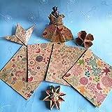 20PCS restaurar el antiguo patrón cuadrado origami de un solo lado DIY niños plegable papel artesanal scrapbook decoración patrón