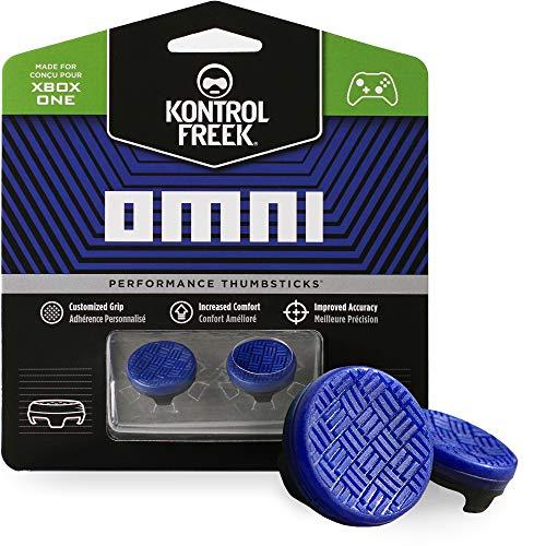 KontrolFreek Omni para Xbox One y Xbox Series X/S   Performance Thumbsticks   2 Alturas bajas, cóncavo   Azul.