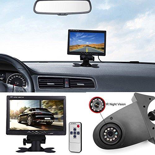 Transporter Van Caméra de Stationnement + 7 Pouces TFT LCD Moniteur de Voiture,HD Vision Nocturne IR Auto Caméra de Lampe de Frein Caméra de Recul pour Mercedes Benz Citan Sprinter Vario Viano Vito