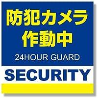 正方形 1枚 日本製 防犯シール 防犯ステッカー 屋外用 色褪せにくい セキュリティ ブルー