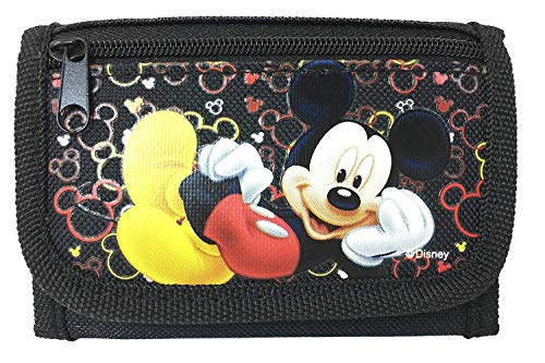 Disney Mickey Mouse Authentic Licensed Trifold Wallet (Black)