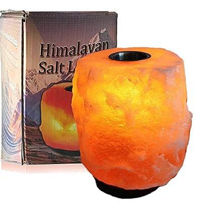 Aroma Natural Salt Lamp Himalayan Caved Salt Lamp with 6 FT UL Dimmer Cord Bulbs, JIC Gem