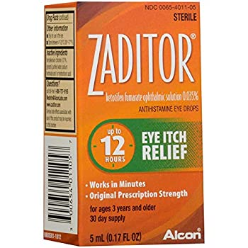 Zaditor Eye Itch Relief Antihistamine Eye Drops - 0.17 fl oz Pack of 2
