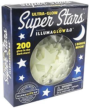 Ultra Glow in the Dark Stars  200 Count w/ Bonus Moon