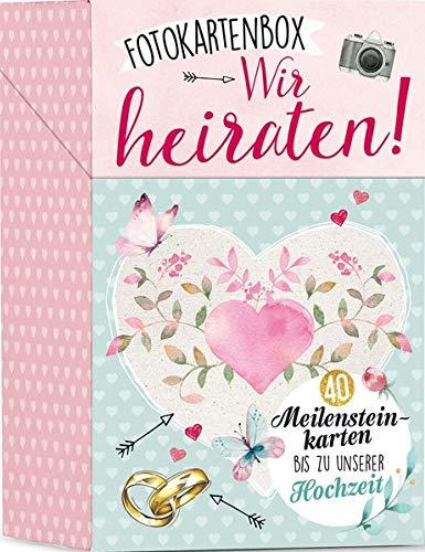 Fotokartenbox Wir heiraten!: 40 Meilensteinkarten bis zu unserer Hochzeit