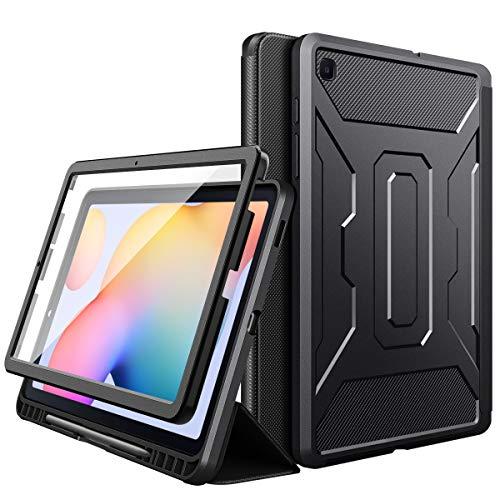 MoKo Custodia Compatibile con Galaxy Tab S6 Lite 10.4 2020 SM-P610/P615, Case Tablet con Supporto Penna Stylus, Supporto Tablet, Accessori Tablet, Cover Compatibile con Galaxy Tab S6 Lite 2020, Nero