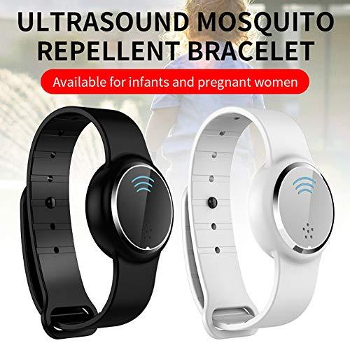 Anti Mosquito Waterdichte Capsule Pest Insect Bugs Repellent Armband Ultrasound muggen Polsband voor kinderen volwassen,Black