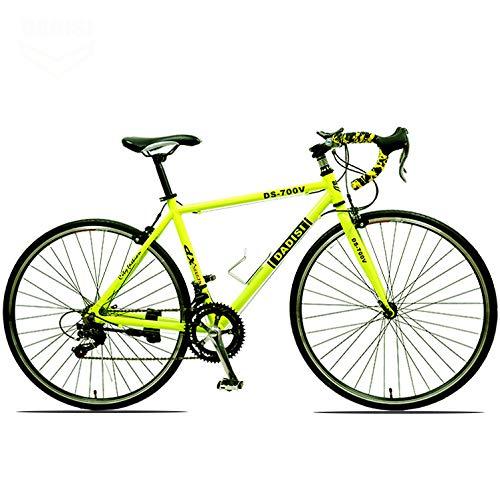 YUANP Bicicleta De Carretera 700C Ruedas 30 Velocidades Freno De Disco Bicicleta 49cm Ciclismo,B