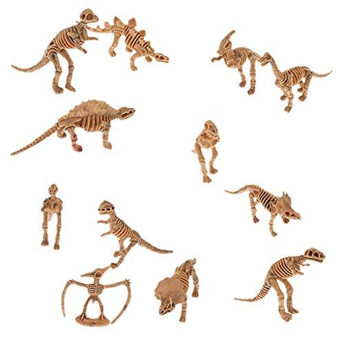 sharprepublic 12x Plástico Surtido Dino Dinosaurio Reliquiae Esqueleto Modelo Kit de Juguete