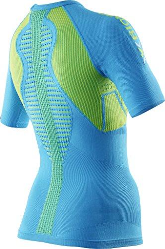 X-Bionic Damen Running Lady The Trick OW SH_SL. T-Shirt, Ocean/Yellow, XS - 2