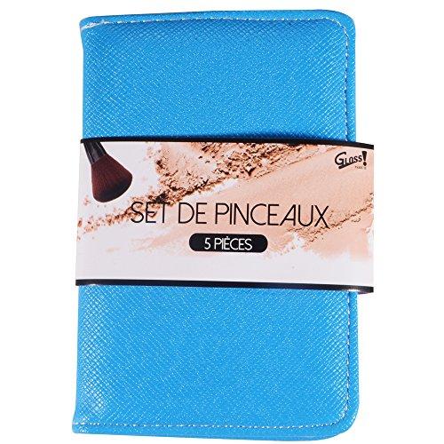 Gloss! Coffret Cadeau - Kit de Pinceaux Maquillage Couleur aléatoire Rose/Noir - 5pcs
